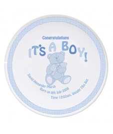 Personalised Teddy It's A Boy China Plate