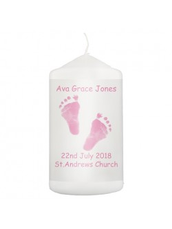 Personalised Footprints Candle