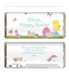 Personalised Easter Meadow Chocolate Bar