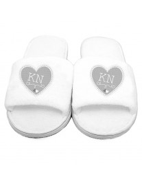 Personalised Heart Slippers