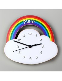 Rainbow and Cloud Shaped Clock