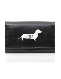 Personalised Sausage Dog Leather Purse