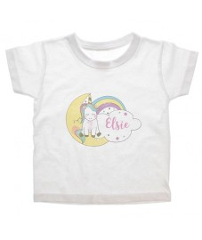 Personalised Baby Unicorn T-shirt