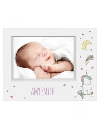 Personalised Baby Unicorn 7 x 5 Photo Frame