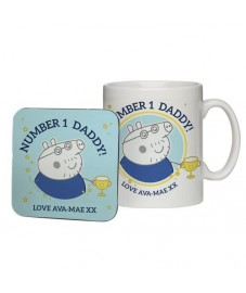 Peppa Pig 'No 1 Daddy' Cup and coaster