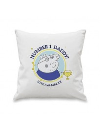 Peppa Pig 'No 1 Daddy' Cushion