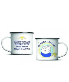 Peppa Pig 'No 1 Daddy' Enamel Mug