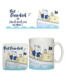 Peppa Pig 'Best Grandad Mug and Coaster Set