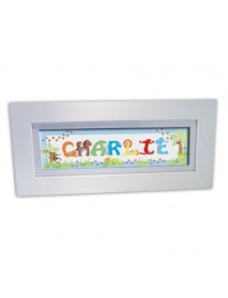 Personalised Blue Animal Name frame