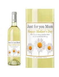 Personalised Daisy White wine