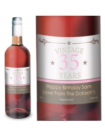 Personalised Vintage Numbers Rose Wine