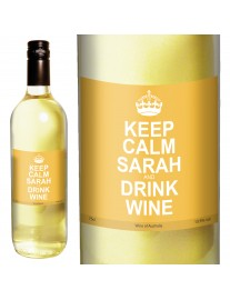 Personalised Keep Calm White Wine