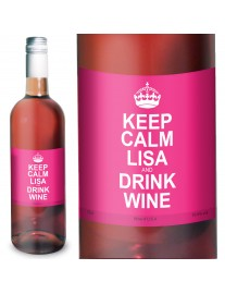 Personalised Keep Calm Rose Wine