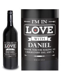 Personalised In Love With Red Wine