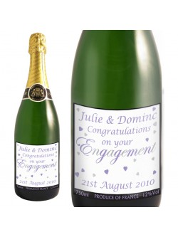 Engagement Hearts Champagne