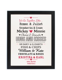 Couples Black Poster Frame