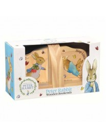 Persionalised Peter Rabbit Wooden Bookends