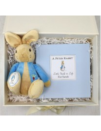 Personalised Peter Rabbit Book and Soft Toy Gift Set