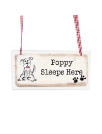 Scribble Wooden Dog Sign