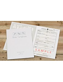 Birth Certificate Presentation Folder