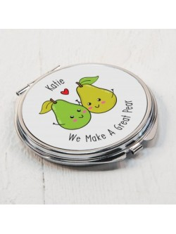 Personalised Great Pear Compact Mirror