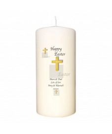 Personalised Easter Cross Candle