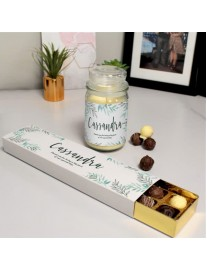 Floral Candle and Truffles Gift