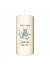 Personalised Teddy Christening Candle