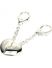 Personalised Joining Hearts Key Ring