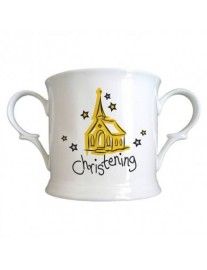 Personalised Bone China Christening Loving Cup