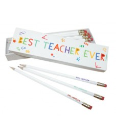 Personalised 'Best Ever Teacher' Pencil Box with Pencils