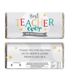 Personalised 'Best Teacher Ever' Chocolate Bar