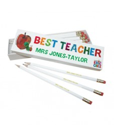 Personalised Very Hungry Caterpillar Best Teacher Pencil Set