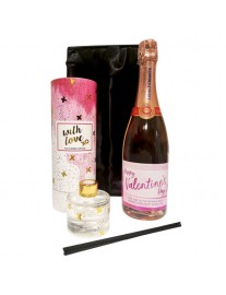 Personalised Sparkling Rose and Reed Diffuser Gift Set