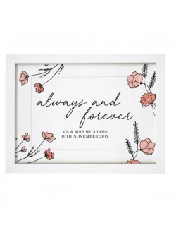 Personalised 'Always and Forever' Framed A4 Print