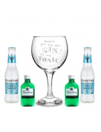 Personalised 'Gin To My Tonic' Gift Set
