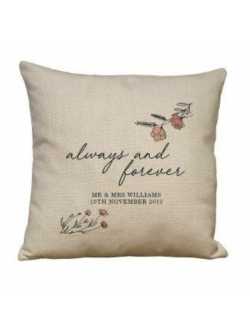 Personalised 'Always and Forever' Linen Cushion