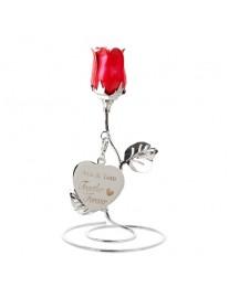 'Together Forever' Red Rose Ornament