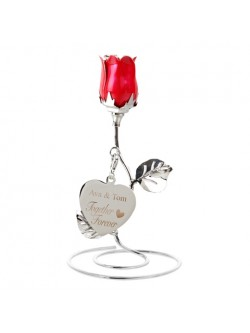 'Together Forever' Red Rose Ornament