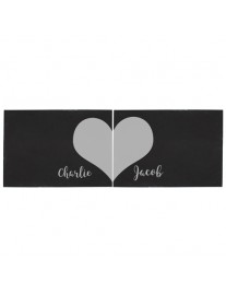 Personalised Two Hearts Slate Placemats
