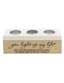 'You Light Up My Life' Triple Tealight Holder