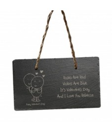 Personalised Valentines Day Hanging Slate Sign