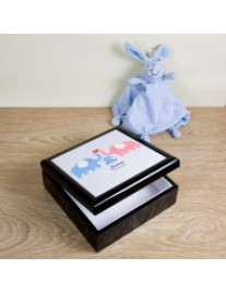 Blue Baby Elephant Keepsake Box