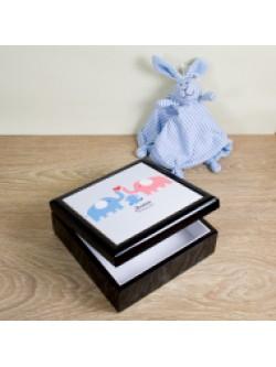 Blue Baby Elephant Keepsake Box