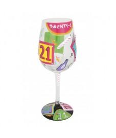 Lolita '21st Birthday' wine glass
