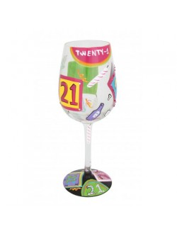 Lolita '21st Birthday' wine glass