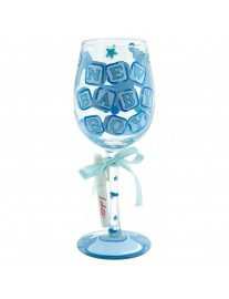 Lolita New Baby Boy Wine Glass