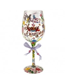 Lolita 'Mum You're Amazing' Wine Glass
