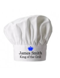 Personalised King of the Grill Chef Hat